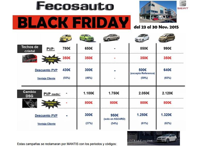 Fecosauto Concesionario Seat y Volkswagen Mollet del Vallès, Black friday 2015 ofertas