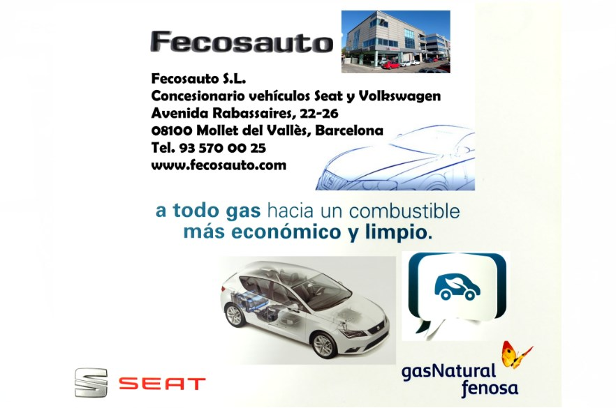 Fecosauto S.L. dando Gas…de GNC, concesionario SEAT y Volkswagen en Mollet del Vallès Barcelona