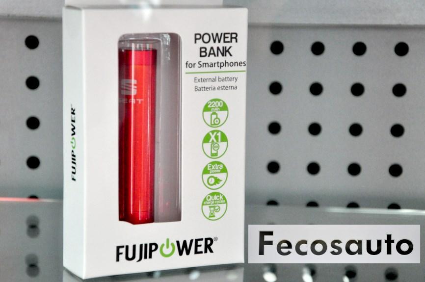 Power Bank Fujipower oferta 9,90 € IVA incl.en Fecosauto S.L.Consesionario SEAT y Volkswagen en Mollet del Vallès,Barcelona