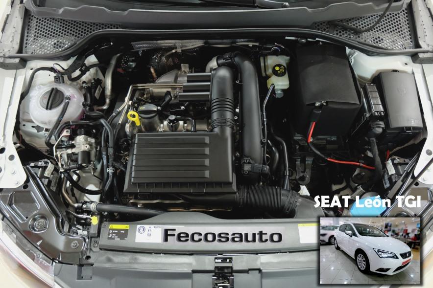 Coche a Gas natural comprimido en Fecosauto dando Gas … de GNC. SEAT León TGI