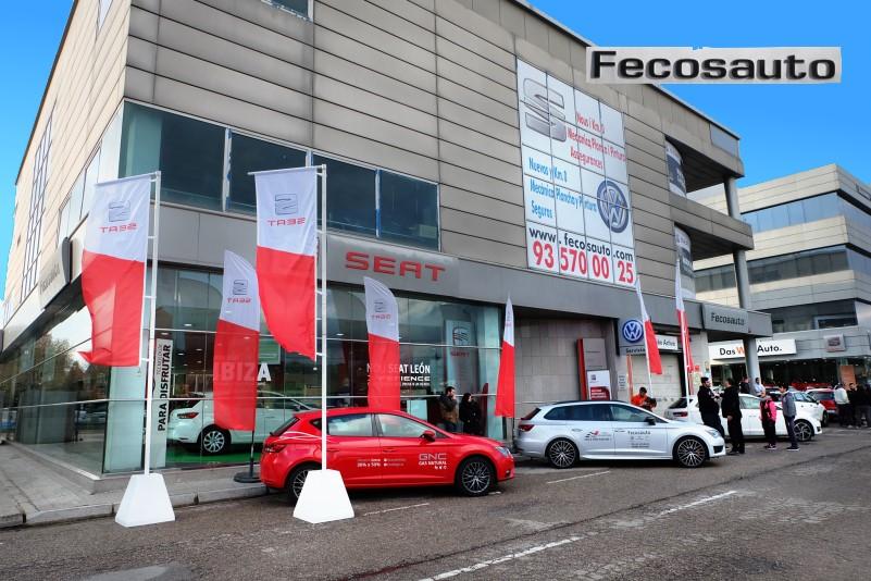 SEAT León TGI en Mollet del Vallès, Barcelona, a gas natural comprimido en Fecosauto dando Gas … de GNC