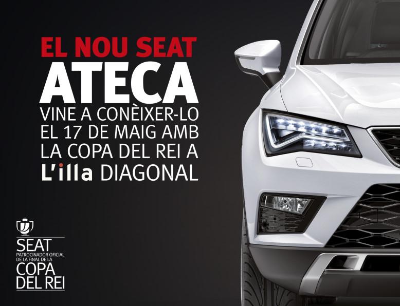 Fecosauto S.L. Concesionario SEAT/Volkswagen en Mollet del Vallès, Barcelona , final Copa del Rey Fútbol, Nuevo SEAT Ateca