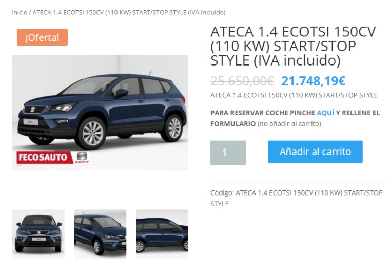 SEAT todo 100% ONLINE, Fecosauto Seat Concesionario SEAT/Volkswagen, Mollet del Vallès, Barcelona, SEAT Ateca con descuento