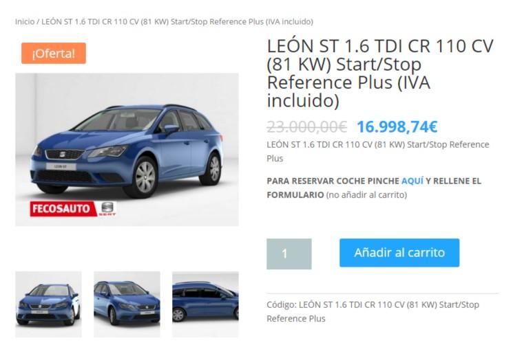 SEAT todo 100% ONLINE, Fecosauto Seat Concesionario SEAT/Volkswagen, Mollet del Vallès, Barcelona, SEAT León ST 1.6 TDI con descuento
