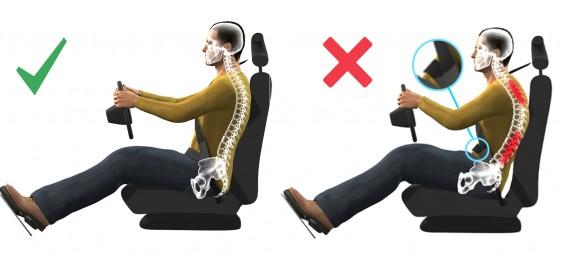 ¿Cómo sentarse correctamente en el coche?